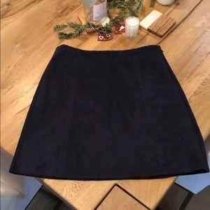 Babaton Faux Suede Mini Skirt